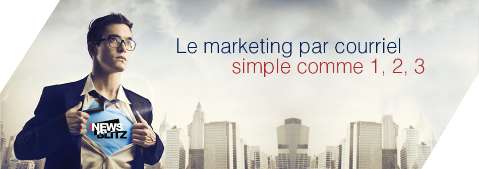iNewsBLITZ, Marketing par courriel simple comme 1-2-3